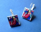 German expressionism Kirchner bold Earrings