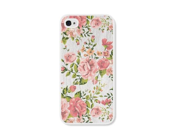 Case Design cute 4s phone cases : Peach Green and Grey Floral Rose iPhone Case - iPhone 4 Case - iPhone ...