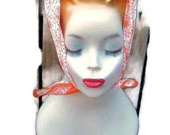 Robinson Golluber orange vintage scarf made in Japan