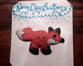 Little Red Fox Button- Rainy Day Buttons
