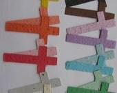 25 Seed Paper Crosses
