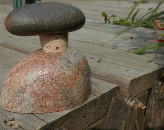 Rock Wine Stopper  with Rock Storage Stand