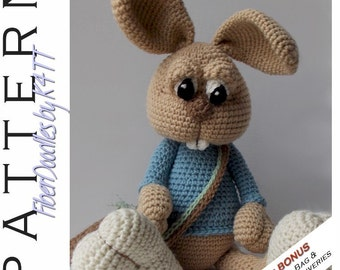 INSTANT DOWNLOAD : Ralstyn the Rabbit Crochet Pattern