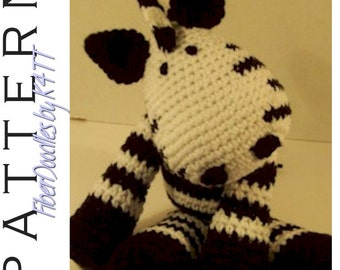 INSTANT DOWNLOAD : KISS Series - Zebra Crochet Pattern