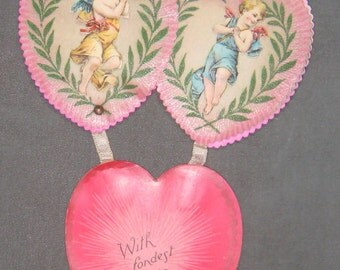 To The One I Love  Valentine Great 1920s German   Valetines Day Card