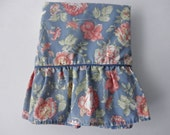 vintage Waverly standard pillowcase - shabby chic, cotton, floral, blue