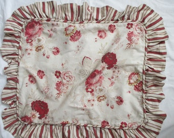 vintage Waverly Garden Room sham - standard, shabby chic, cotton, floral