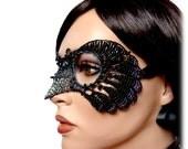 Jackdaw womens masquerade mask, costume, accessories, handmade, halloween