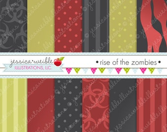 Rise of the Zombies Digital Papers - Spooky Papers - Halloween Papers - Halloween Background - Blood Papers - Digital Backgrounds