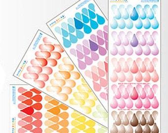 Sensitive Transparent Stickers / Raindrop - 4 sheets (3.5 x 9.5in)
