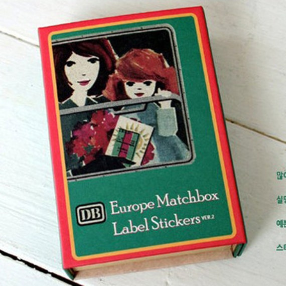 Europe Label Stickers Matchbox Ver. 2 - 134 sheets (2.8 x 3.9in)