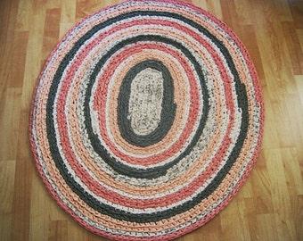 Oval Crocheted Rug