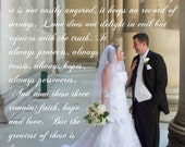 Lyrics Canvas Personalized Wall Art with Your Vows Song Or Verse 12x20
