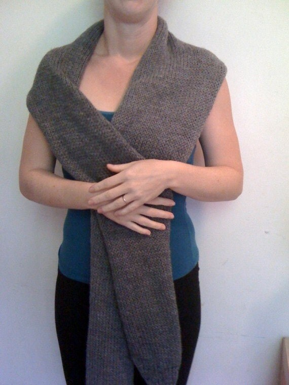Sleevie Wonder Wrap Shrug Scarf Knit Pattern Knitting Convertible DIY Easy ...