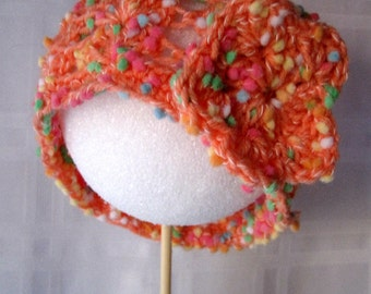 Dippy Dots Lacy Shell Peachy Baby Hat