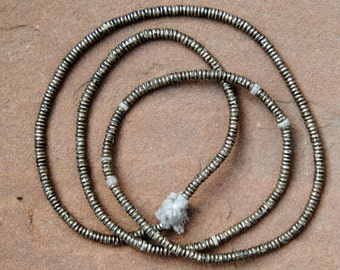 African Silver Spacer Beads (3x1mm)