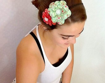 Red Meets Green Paper Mache Daisy Headband