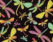 Midnight Dragonfly  - Timeless Treasures - Half Yard