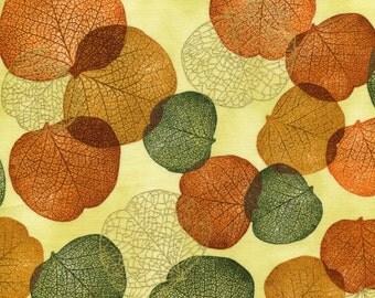 Metallic Jewel Autumn Leaves - Robert Kaufman - 1 yard - Last Available
