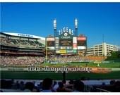 Comerica Park Detroit Tigers stadium field photograph Verlander no-hitter