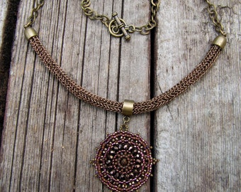 Viking Knit Bead Medallion