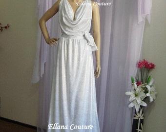 Sample Sale. Viola - Elegant Vintage Inspired Glam Bridal or Evening Gown.