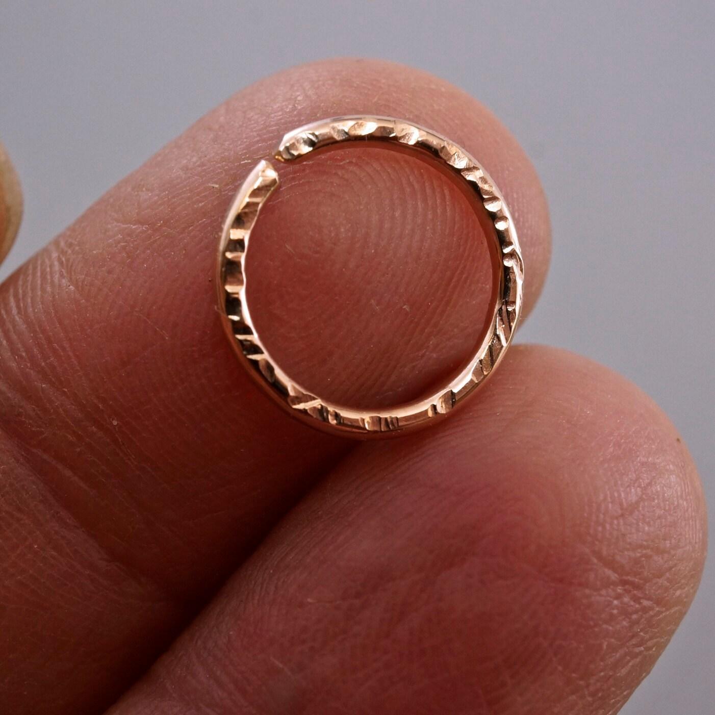 septum ring cartilage ring 16g hoop earring 12mm piercing