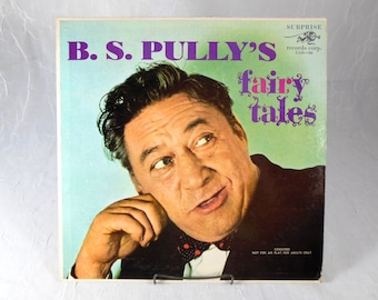 Vintage Comedy Record B. S. Pully's Fairy Tales 1960s Recording