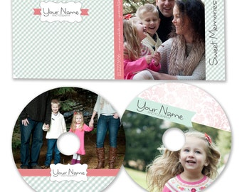 INSTANT DOWNLOAD -  Dvd Label and Dvd Case Photoshop template - W0824