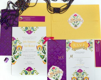 The Aurora Mexican Fiesta Wedding Invitation