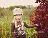 Baby Newsboy Hat, Newborn Girl Hat, Baby Photo Prop for Girls, Jute, Pink, Cotton, Newborn Size