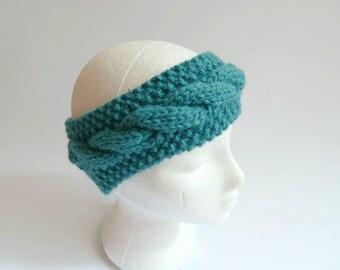 cable earwarmer knitting pattern  chunky knitting pattern headband