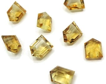 One Genuine Citrine Quartz 8x6x4mm Villa cut 1.40-1.55 Ct each