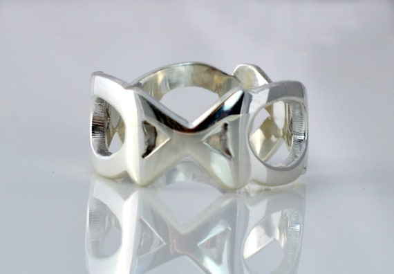 XOXO Hugs and Kisses Sterling Silver Ring Gift Under 90