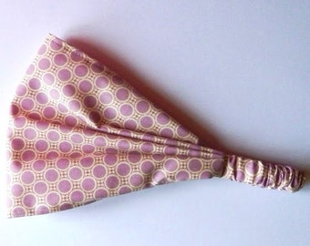 Yoga Headband Cotton Bandana - Amy Butler Gypsy Caravan Deco Dots Astor fabric