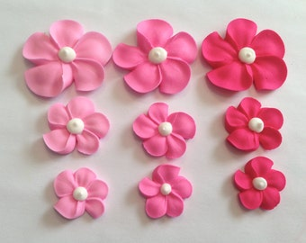 LOT of 150 Sugar Flowers three shades of pink