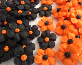 Royal Icing flowers great for Halloween lot of 100 flowers