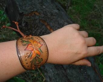 Tooled Leather Bracelet