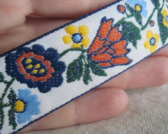 Edith's GARDEN flower jacquard ribbon