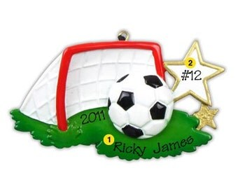 Personalized Christmas Ornament Soccer Sports, Coach, Team Gift- Free Personalization