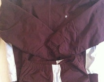 Dark Burgundy Vintage PIERRE CARDIN Jogging Suit XL
