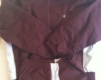 Dark Burgundy Vintage PIERRE CARDIN Jogging Suit XL