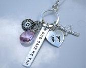 Infinity Newborn Sterling Silver Mom/Mommy/Grandma necklace - Adoption Gift - Push Present- Newborn Gift