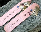 Personalized Copper Bookmark - Grandma/Nana/Grandpa/Papa