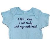 Teething Humor Baby Bodysuit onesie Screen Printed