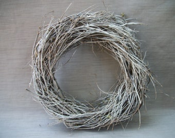 white washed twig wreath