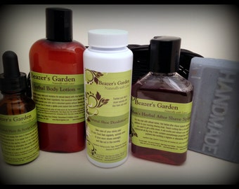 Men's Organic Skincare Giftset- Natural Skincare Bathset for Men- Giftsets for Men- Mens's Bath & Body- Home Spa Day- FREE SHIPPING