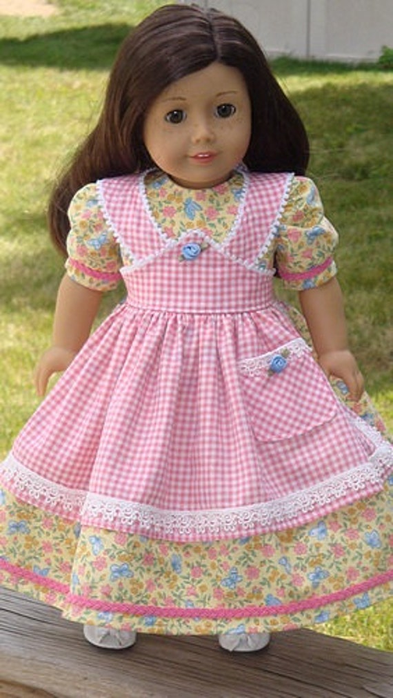 American Girl Doll Clothes Mid 1800 S Apron Gown For