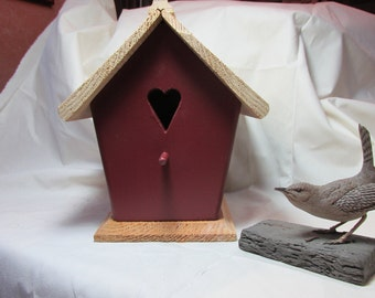 Handmade, Country Red, Wren House, Bird House, Garden Decor