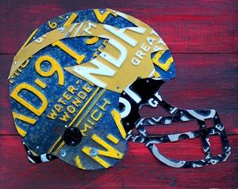 Michigan Wolverines Football Helmet License Plate Art Open Edition